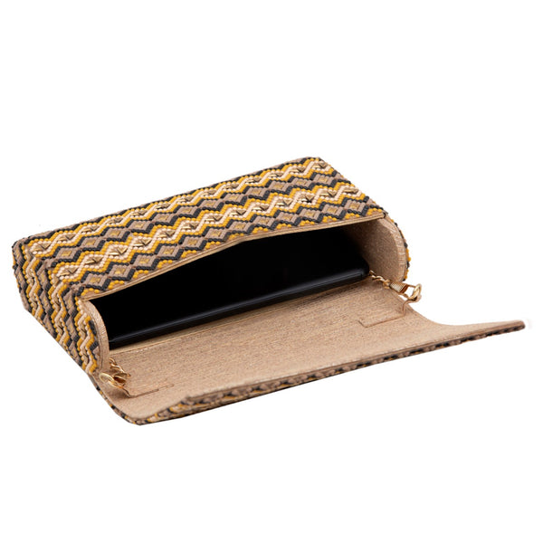 Yellow Gold Hand Aztec Clutch