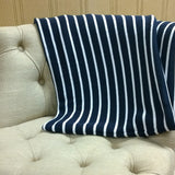 Navy and White Throw