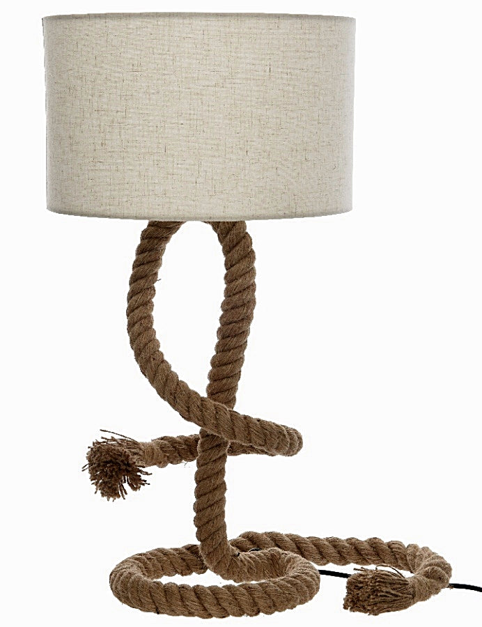 Twisted Rope Lamp with Lampshade - Seashore No4