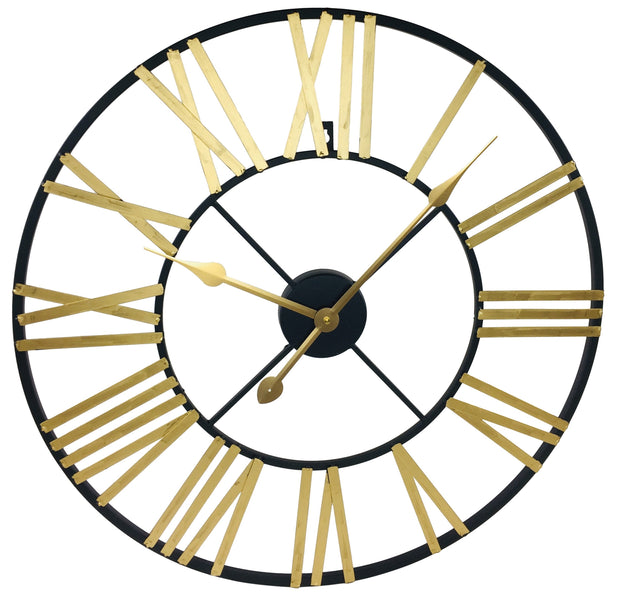 Gold & Black Roman Numeral Cut Out Clock - Seashore No4