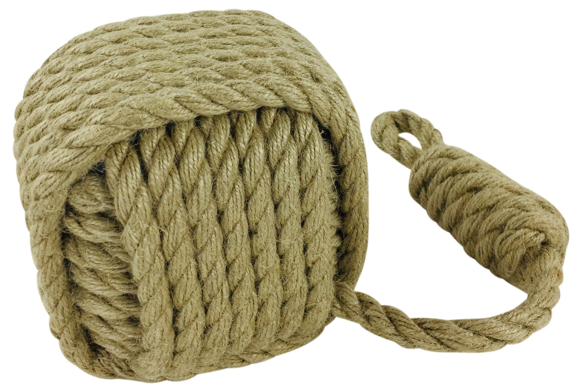 Square Rope Door Stop - Seashore No4