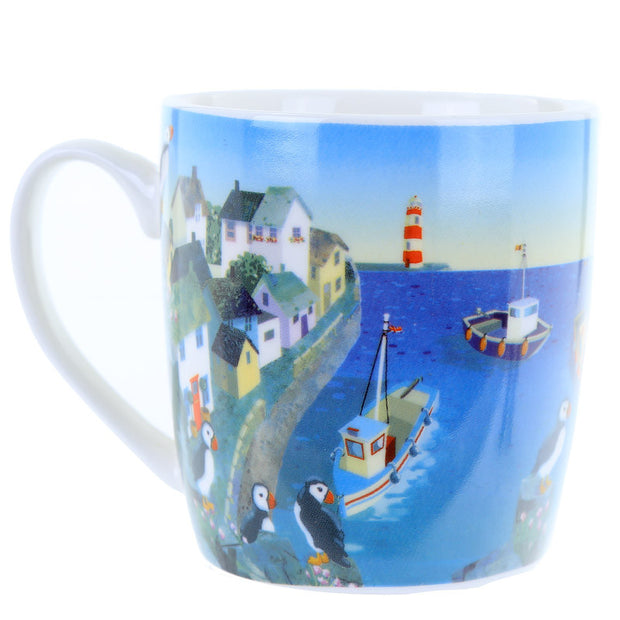 Puffin Cove Bone China Mug - Seashore No4