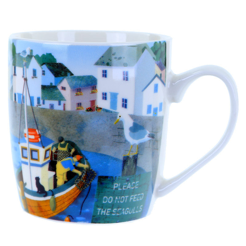 Harbour View Bone China Mug - Seashore No4