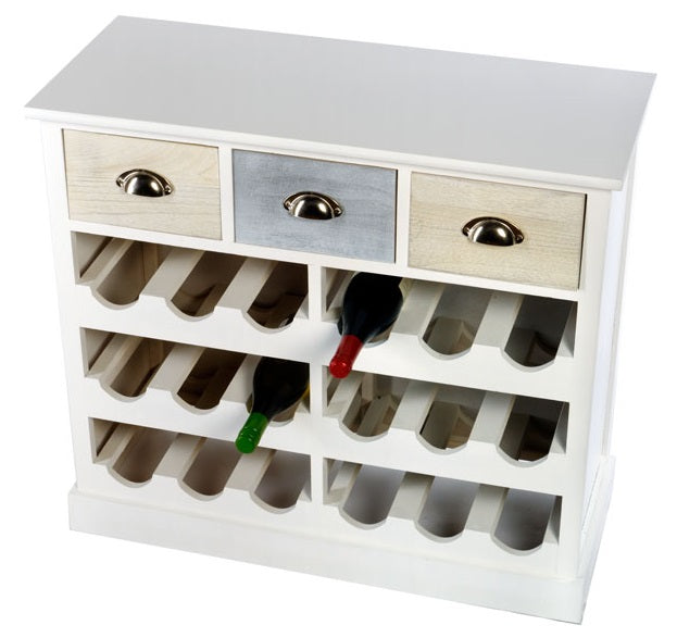 Wine Cabinet with Three Drawers - Seashore No4
