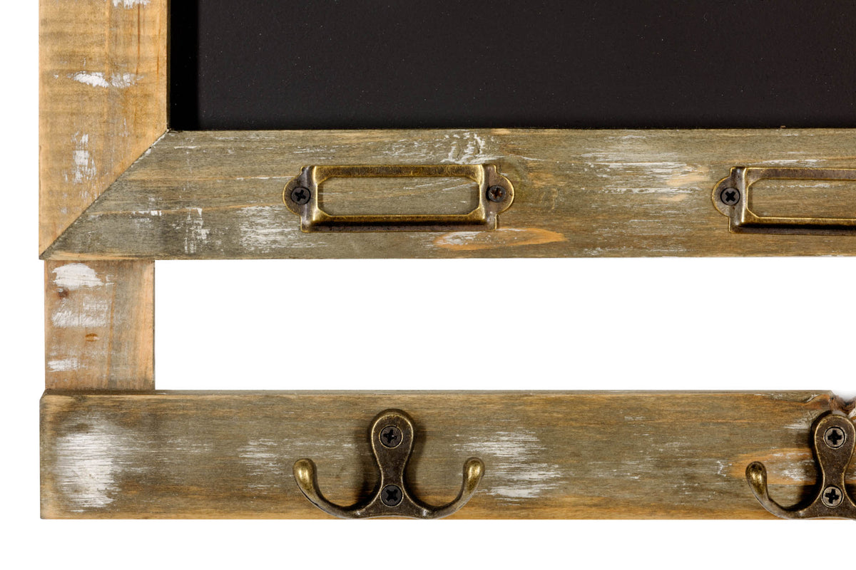 Rustic Chalk Board With 4 Hooks - Seashore No4