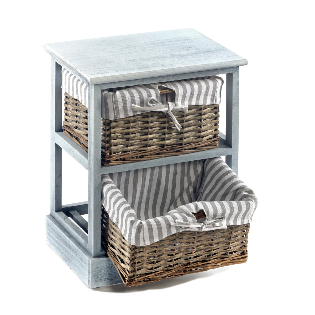 Wooden Storage Cabinet with Baskets - Seashore No4