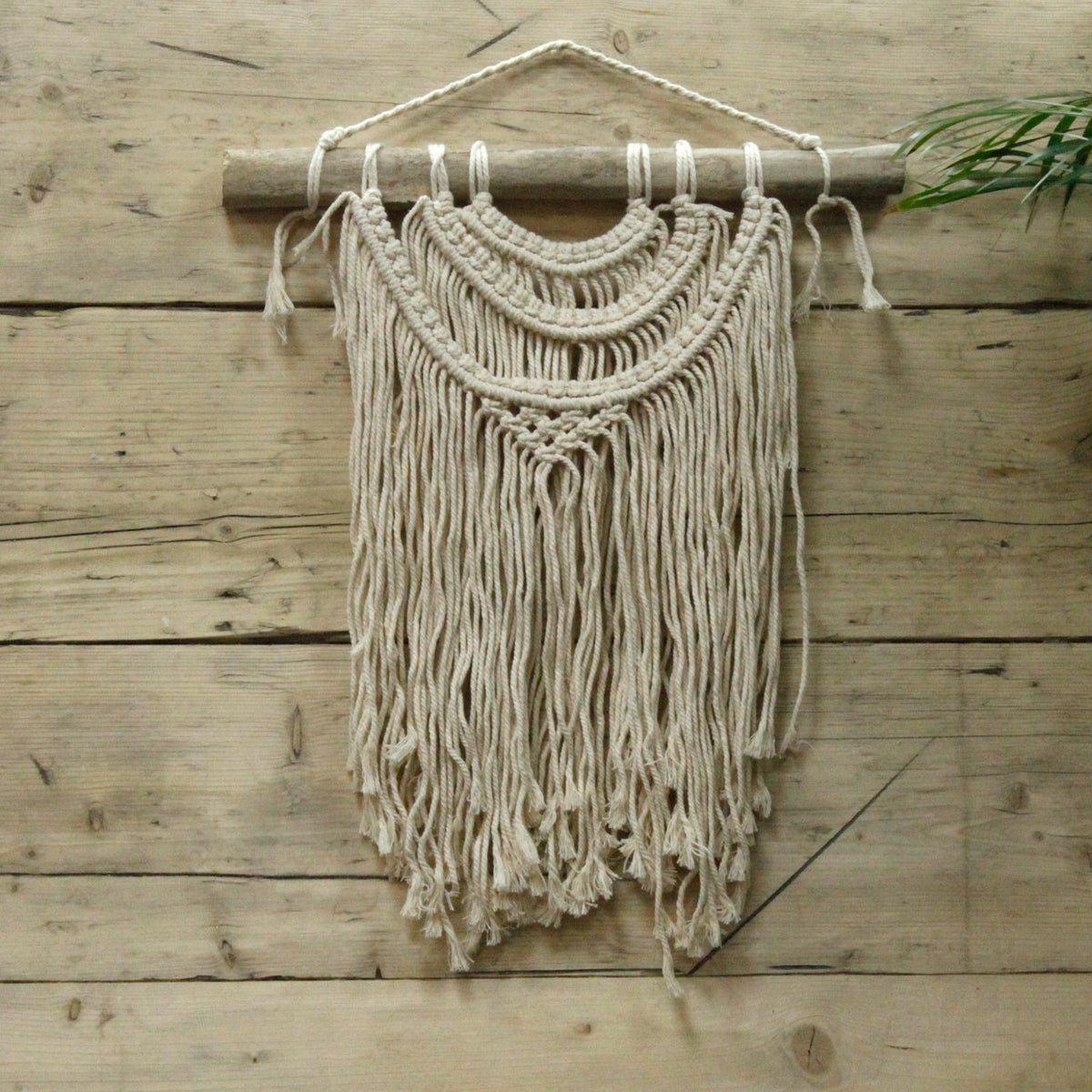 Macrame Wall Hanging - Three Waves - Seashore No4