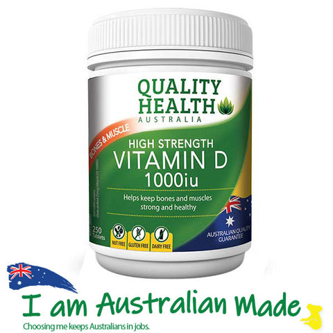 Quality Health High Strength Vitamin D 1000IU 250 Capsules