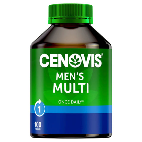 Cenovis Men's Multi - Once-Daily Multivitamin - 100 Capsules