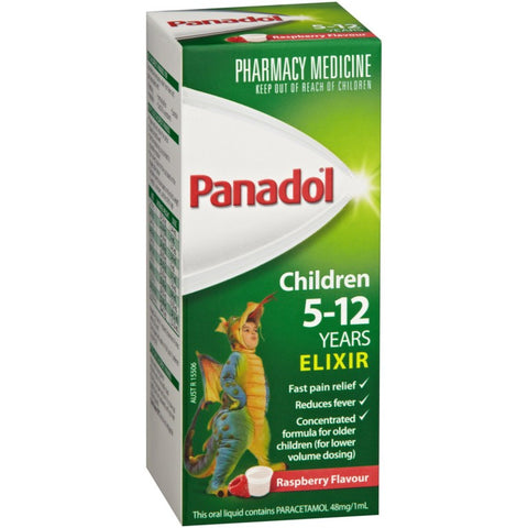 Panadol Children's 5-12 Years Elixir Oral Liquid 100mL