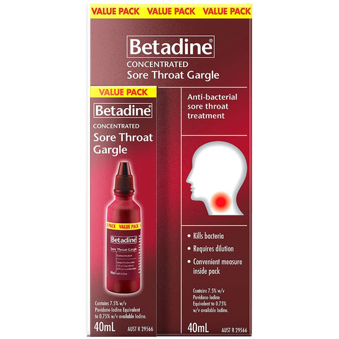 Betadine Sore Throat Gargle (Concentrated) 40ml