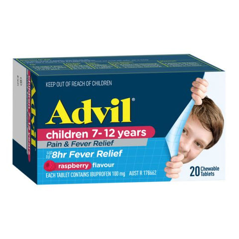 Advil Childrens 7-12 years 20 Chewable Tablets