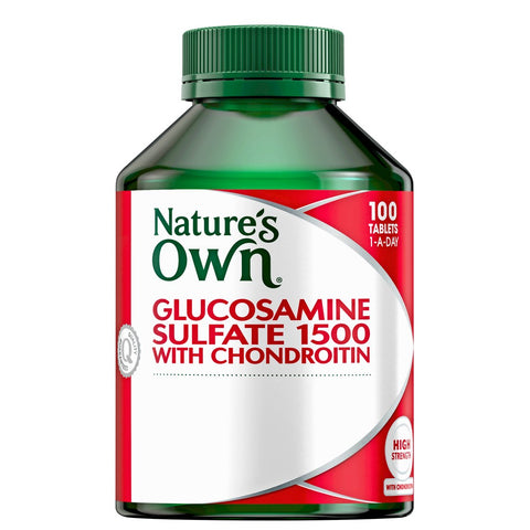 NATURE'S OWN Glucosamine Sulfate 1500 with Chondroitin 100 Tablets