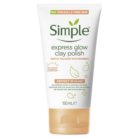 Simple Protect N Glow Express Glow Clay Polish 150ml