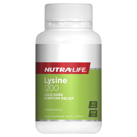 Nutra-Life L-Lysine 1200mg 60 Tablets