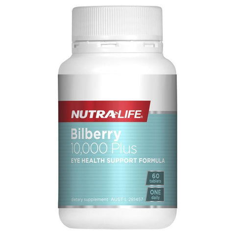 Nutra-Life Bilberry 10000 Plus 60 Tablets
