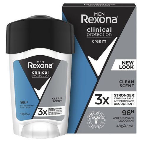 Rexona for Men Clinical Protection Antiperspirant Clean Scent 45ml