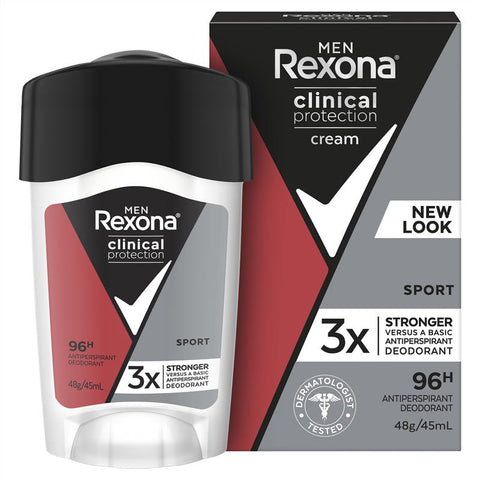 REXONA Men Clinical Protection Antiperspirant Deodorant Sport 45ml