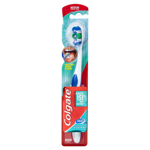 Colgate 360 Whole Mouth Clean Compact Head Toothbrush Medium