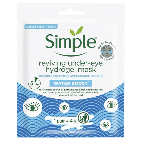 Simple Water Boost Reviving Under Eye Mask 4g