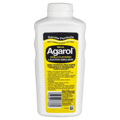 Agarol Vanilla Laxative Liquid 500mL