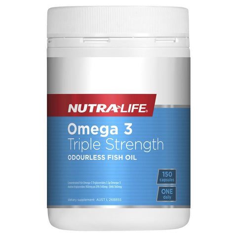 Nutra-Life Omega 3 Triple Strength Odourless 150 Capsules