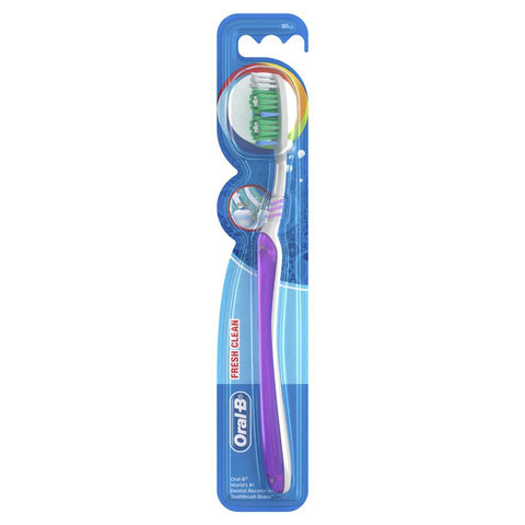 Oral B All Rounder Fresh Clean Soft Manual Toothbrush 1 Pack
