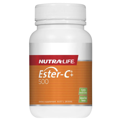 Nutra-Life Ester C 500mg Chewables 120 Tablets