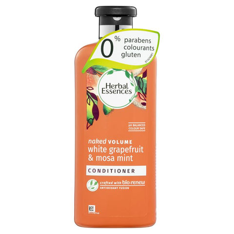 Herbal Essences Bio Renew Naked Volume Grapefruit Mosa Mint Conditioner 400ml