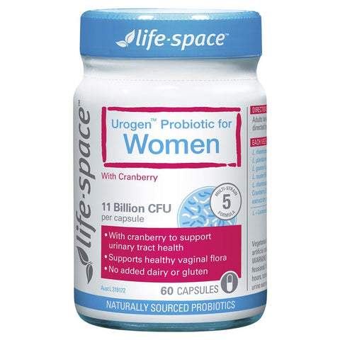 Life Space Urogen Probiotic For Women 60 Capsules