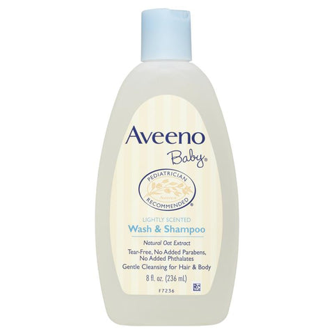 Aveeno Baby Daily Moisture Lightly Scented Wash & Shampoo 236mL