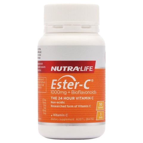 Nutra-Life Ester C 1000mg + Bioflavonoids 50 Tablets