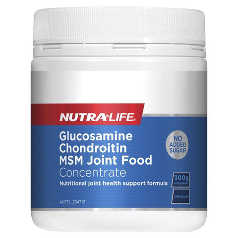 Nutra-Life Glucosamine Chondroitin Msm Joint Food 300g Powder