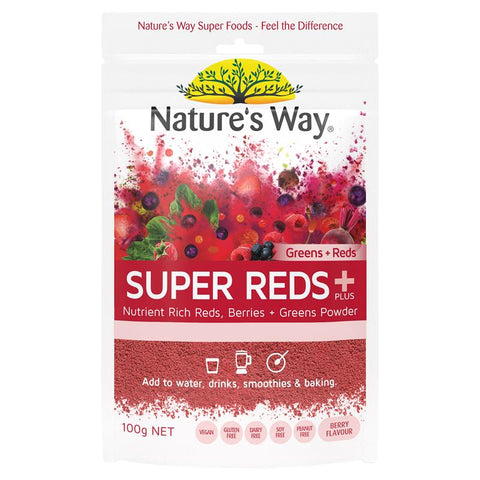 Nature's Way SuperFoods Greens Plus Wild Reds 100g