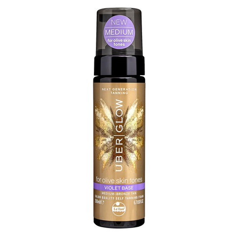 LE TAN Uber Glow Foamed Oil Self Tanning Foam - Violet Base 200 mL