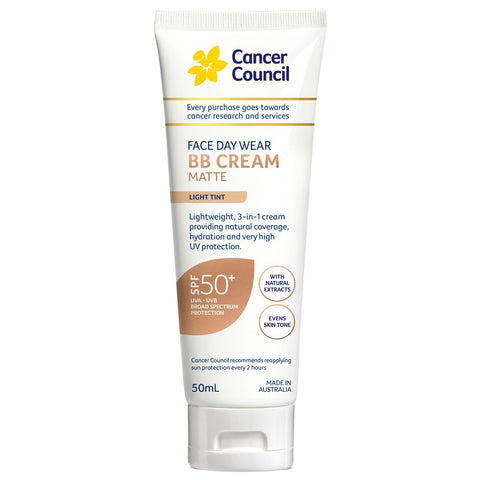 CANCER COUNCIL Face Day Wear BB Cream SPF 50+ Light Tint 50 mL