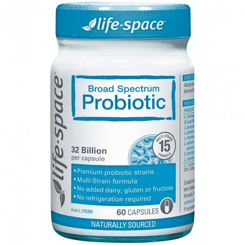 LIFE-SPACE Broad Spectrum Probiotic 60 Capsules