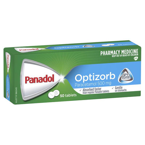 Panadol with Optizorb Paracetamol Pain Relief Tablets 500mg 50