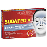 Sudafed PE Double Action Sinus + Anti-Inflammatory Pain Relief 24 Tabs