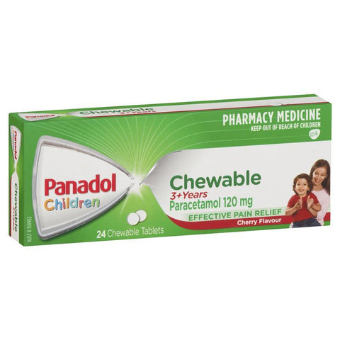 Panadol Children Chewable Tablets 3 Years+ 24 Tablets