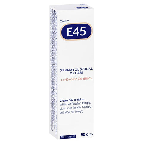 E45 Moisturising Cream for Dry Skin and Eczema 50g