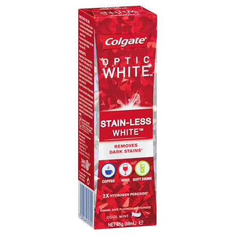 Colgate Optic White Stain-Less White Cool Mint Whitening Toothpaste 85g