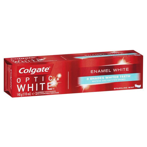 Colgate Optic White Enamel White Sparkling Mint Teeth Whitening Toothpaste with hydrogen peroxide 140g