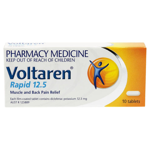 Voltaren Rapid 12.5, Pain Relief 10 Tablets