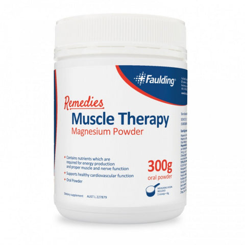 Faulding Remedies Muscle Therapy magnesium 300g Powder