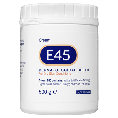 E45 Moisturising Cream for Dry Skin and Eczema 500g