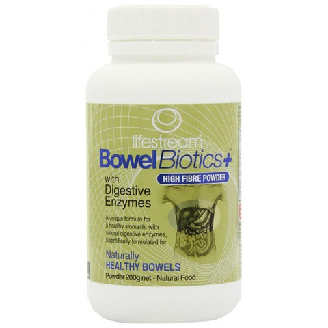 Lifestream Bowel Biotics + With Digestive Enzymes 200g