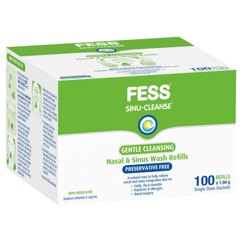Fess Sinu Cleanse Gentle Nasal and Sinus Wash Sachets 100 Refills