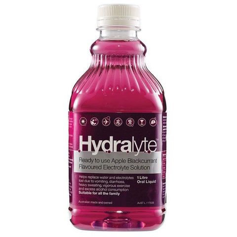 Hydralyte Liquid Apple Blackcurrant 1 Litre