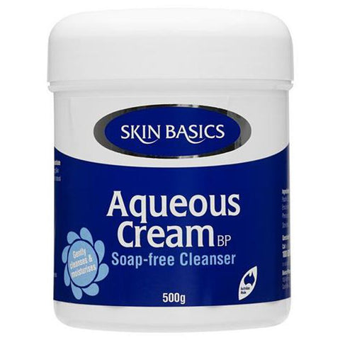 Skin Basics Aqueous Cream BP Soap-Free Cleanser 500g (Jar)